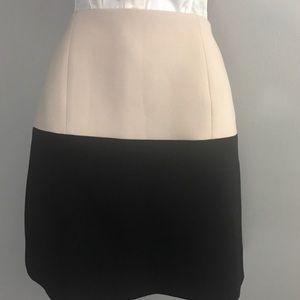 kate spade Cream Black Color Block Skirt 6 A1 0001